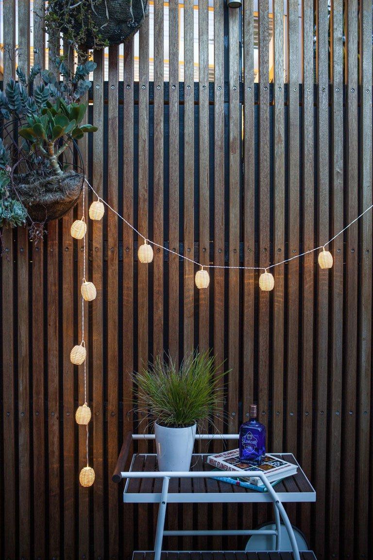 10 Kamari Rattan LED Solar Fairy Lights