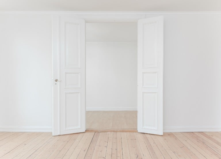 Plain white walls