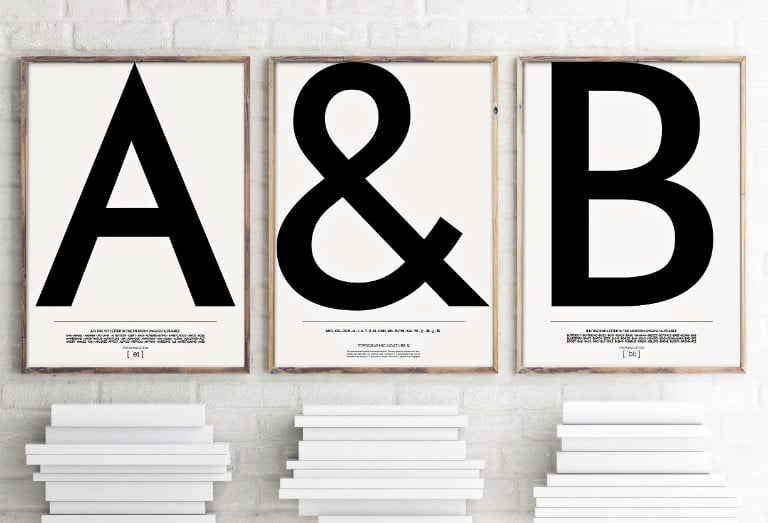 ARBOL house Typography Alphabet Prints