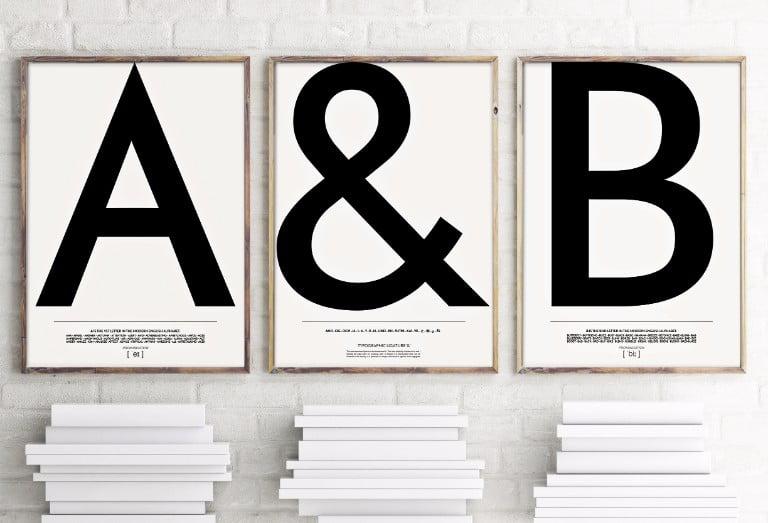 ARBOL house Typography Alphabet Prints