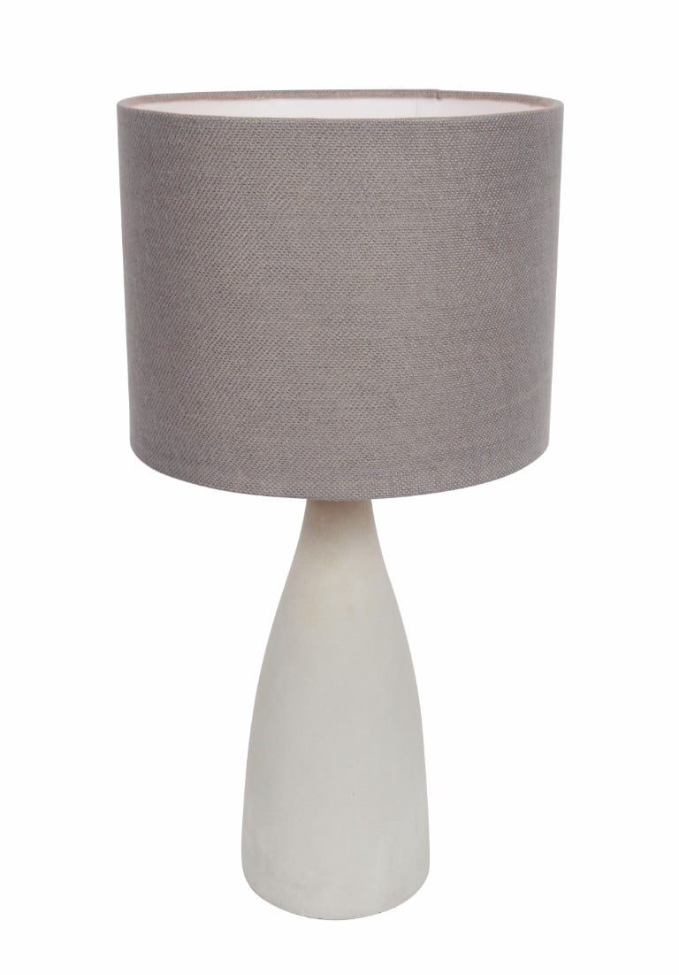 Debenhams grey and white lamp