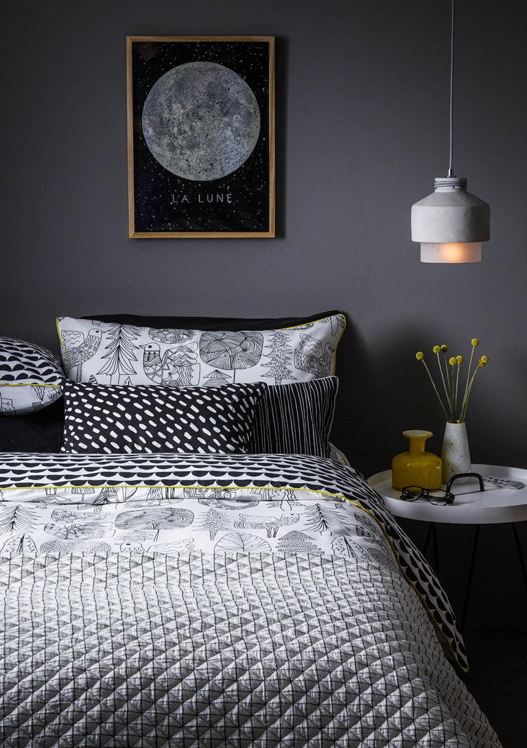 Debenhams Grey Bed Linen | Autumn Styling