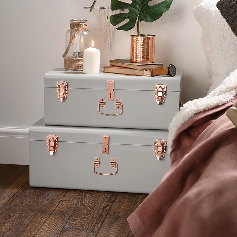 Grey Storage Trunks