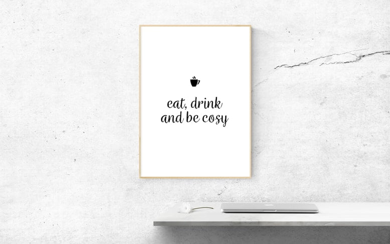 Eat Drink and Be Cosy Poster