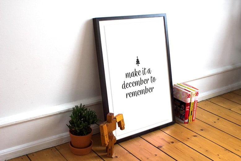 Make it a December to remember Poster