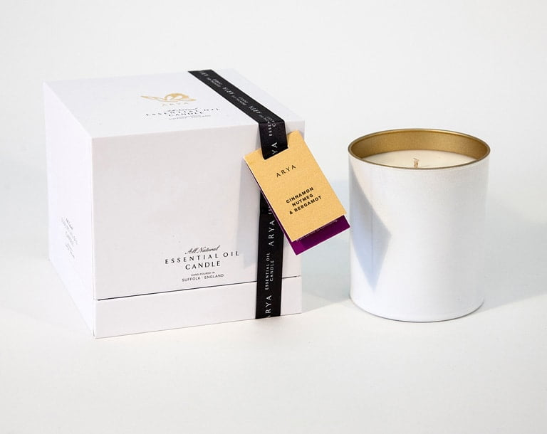 Arya Cinnamon, Nutmeg and Bergamot Candle | Winter Hygge Essentials - In Two Homes