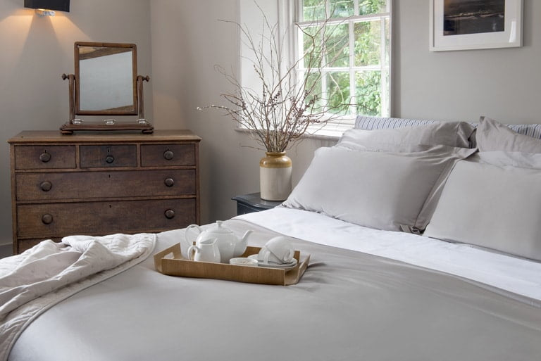 Nour Luxury Pewter Bed Set - Eco-friendly Bedding | Winter Hygge Essentials - In Two Homes