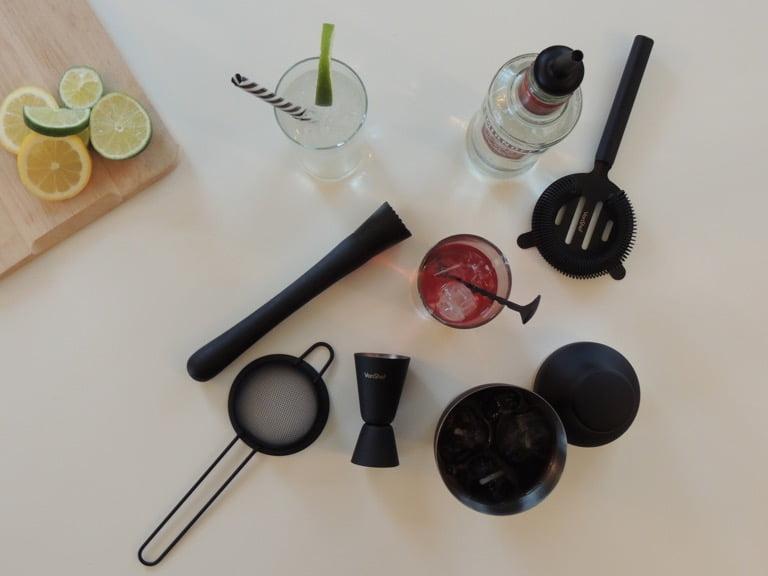 VonShef Matte Black Cocktail Set