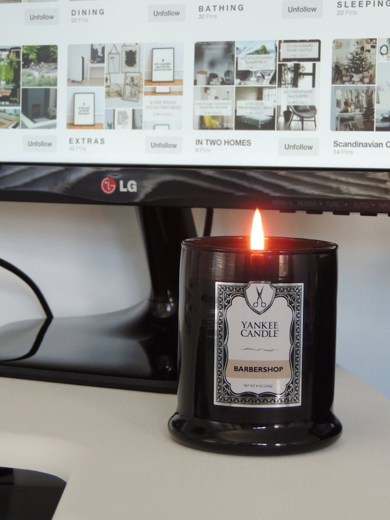 Desk Setup 2018 Barbershop by Yankee Candle