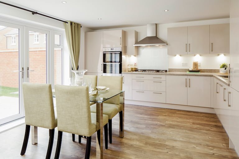 Modern chic home with green accents - Newbury Racecourse, David Wilson Homes