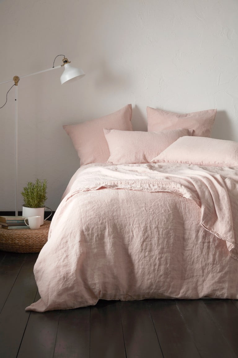 Secret Linen Store 100% Linen Collection, Blush Pink, lifestyle 1, £15-160