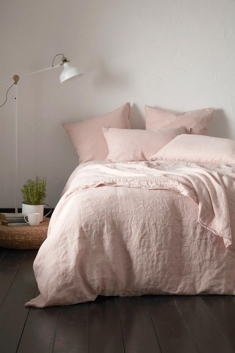 Secret Linen Store 100% Linen Collection, Blush Pink, lifestyle 1, £15-160
