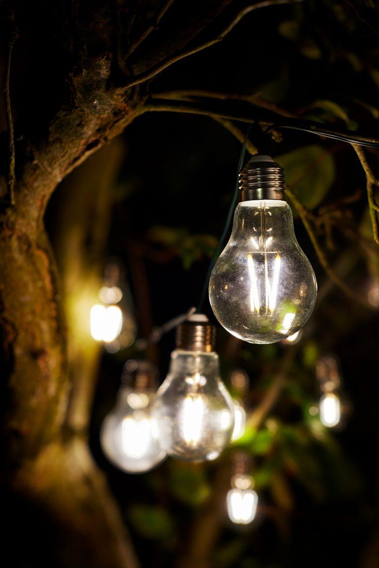Eureka Retro Solar LED String Lights
