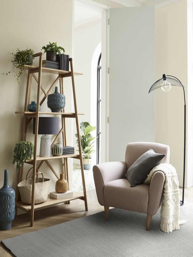 John Lewis Ladder Shelf and Armchair