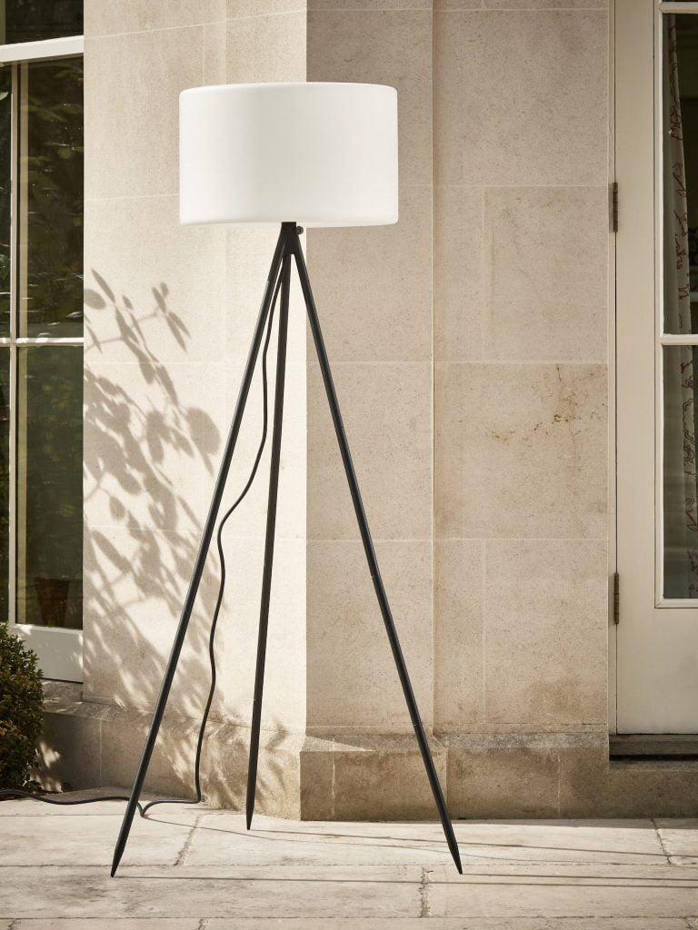 Tripod Outdoor Floor Lamp
