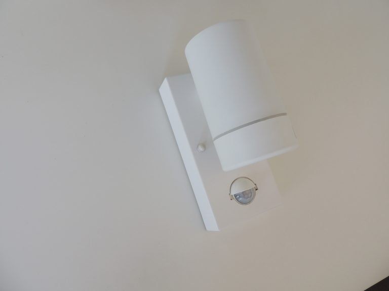 White LED PIR Spotlight