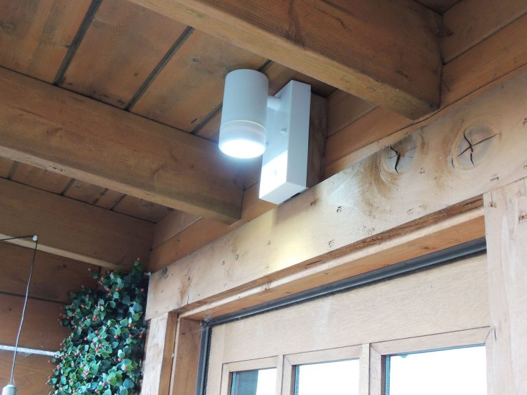 White LED Spotlight with PIR Sensor