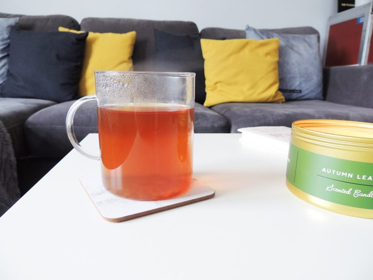 Hot Chai Tea in Glass Mug