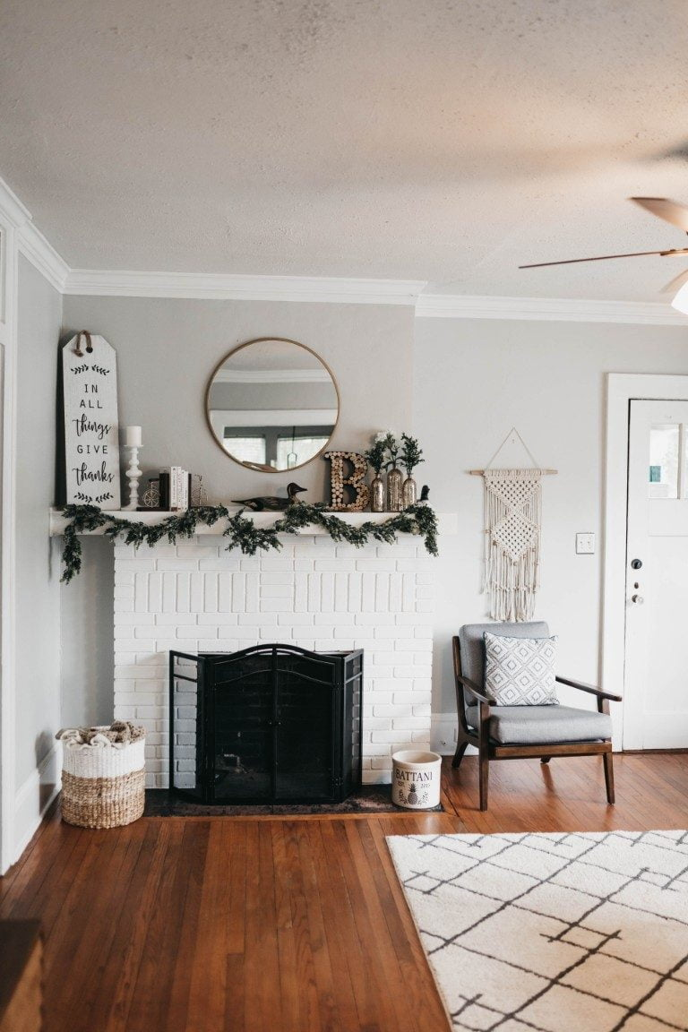 end of summer clean living room