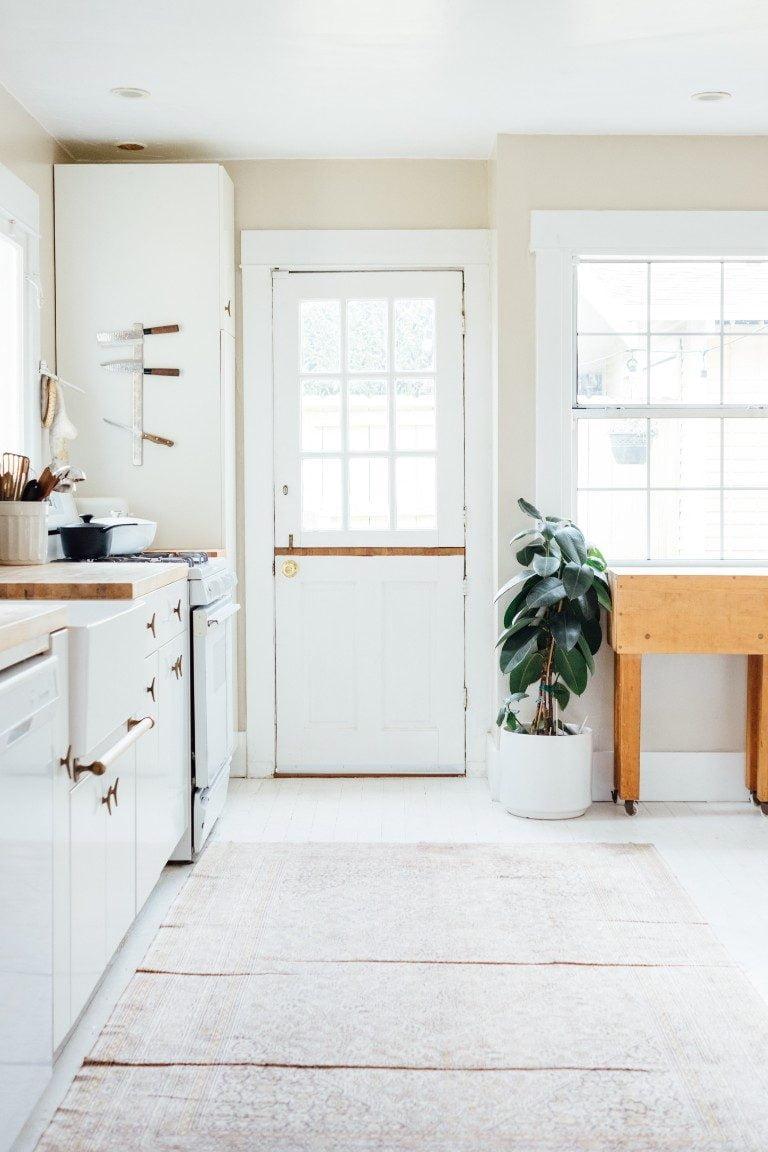 end of summer clean kitchen