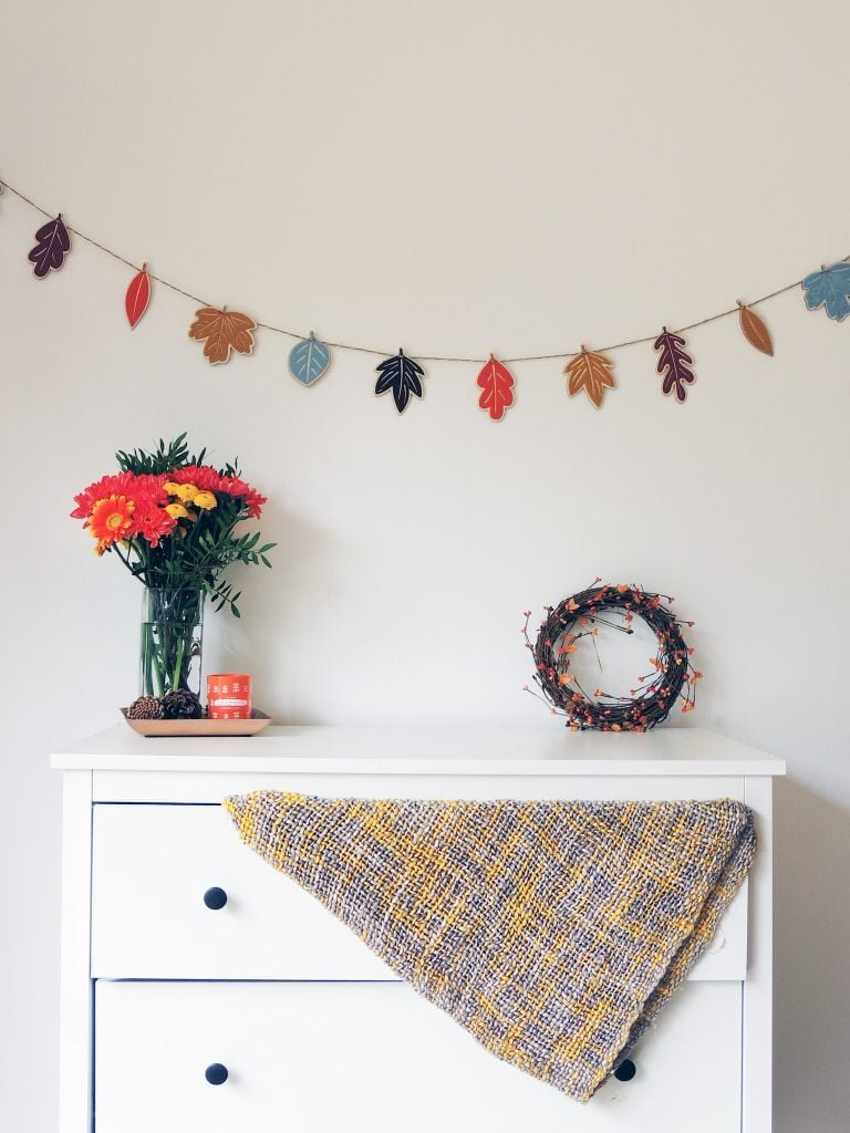Autumnal Decorated Chest of Drawers