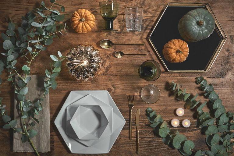 Autumn Table Setting for Halloween