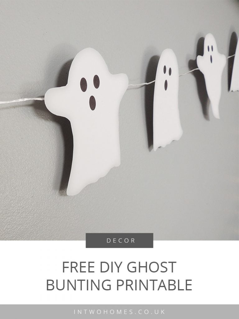DIY Ghost Bunting - Halloween Decor Printable