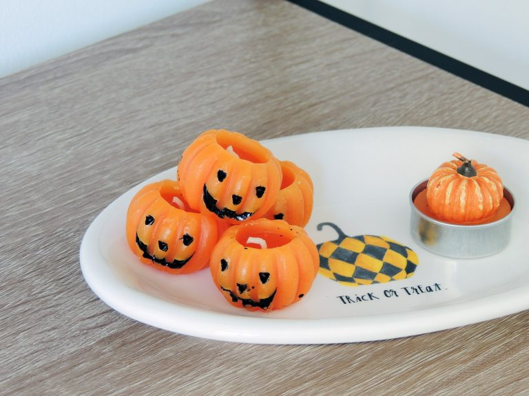 Halloween Dish with Candles