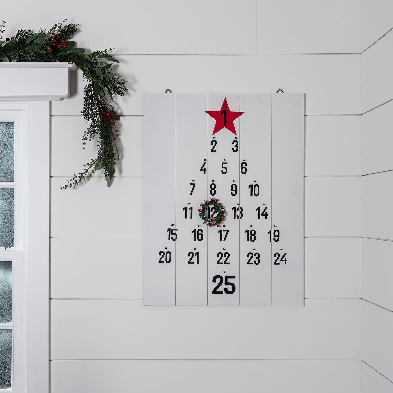 Albany Wooden Advent Wall Calendar, £28.99, Lights4Fun