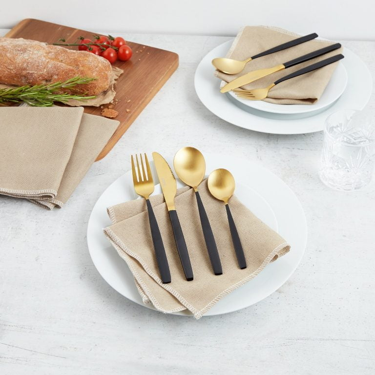 Domu Brands VonShef 16pc Black GoldCutlery Set.jpg
