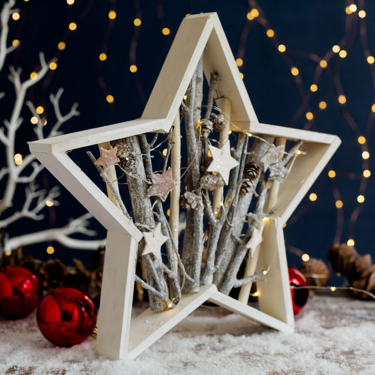 Love Unique Star Frame With Glittery Branches