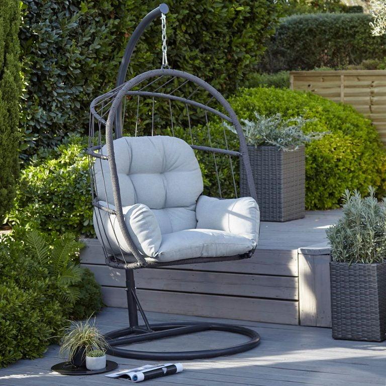 B&Q Cannock Swing Chair with Cushions