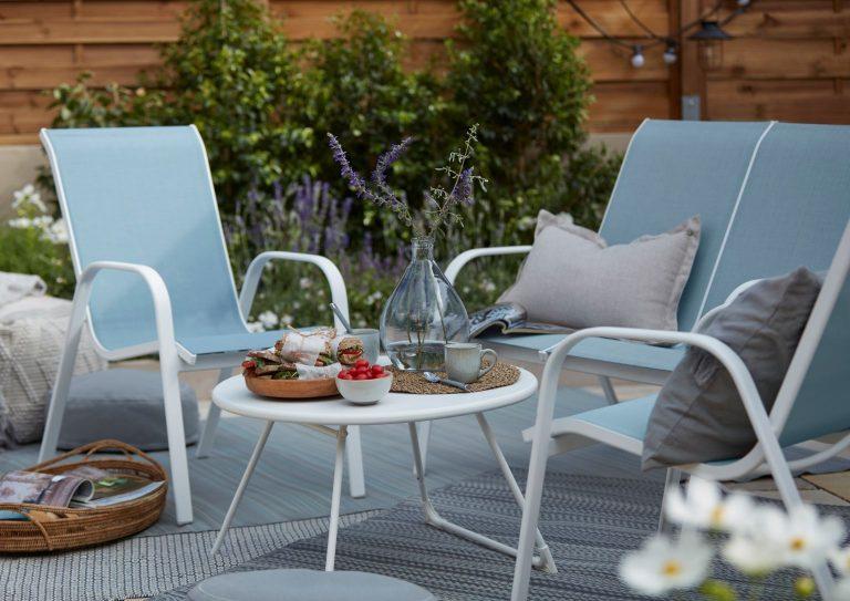 B&Q Janeiro Coffee Table and Armchairs