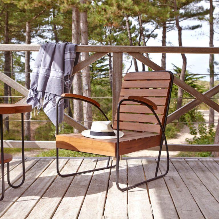 Tikamoon Key Wood outdoor Armchair, £249
